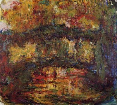 Pont japonais et bassin aux nymphéas (1899) et Le Pont japonais (1922)